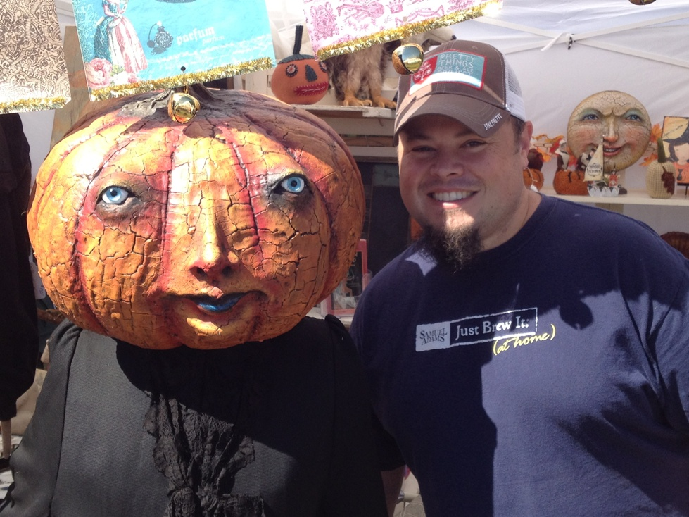 Sean and Pumpkin Man
