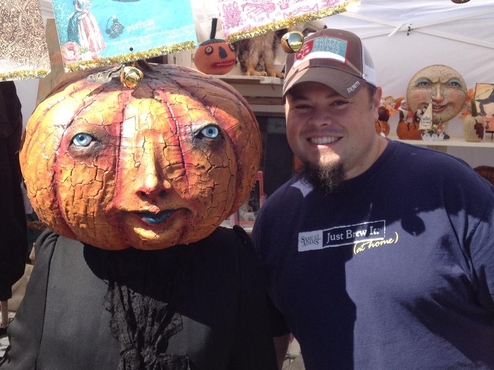 Sean and Pumpkin Man