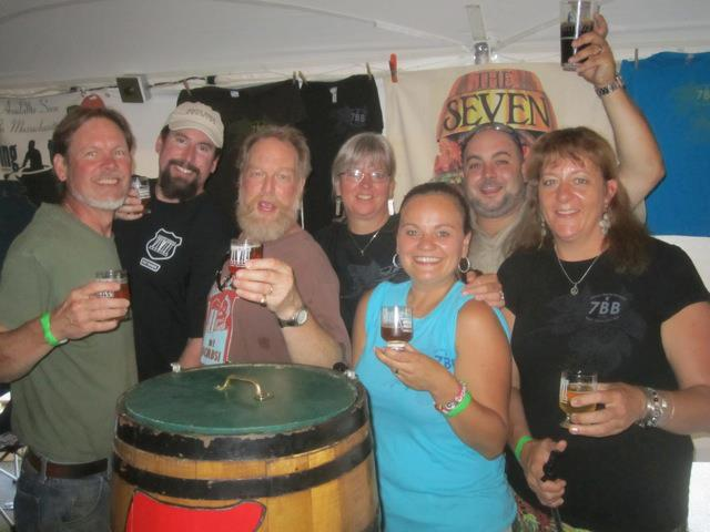 Group at the 7Barrel Brewery Table