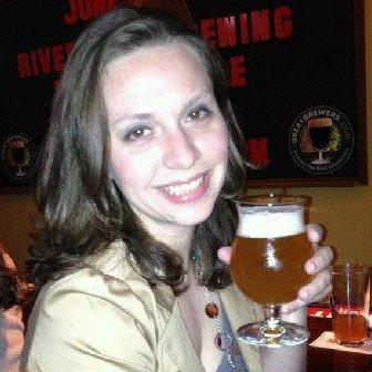 Lisa enjoying a craft beer