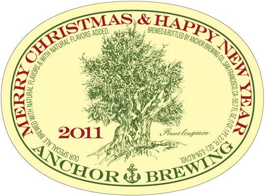 Anchor Christmas Label