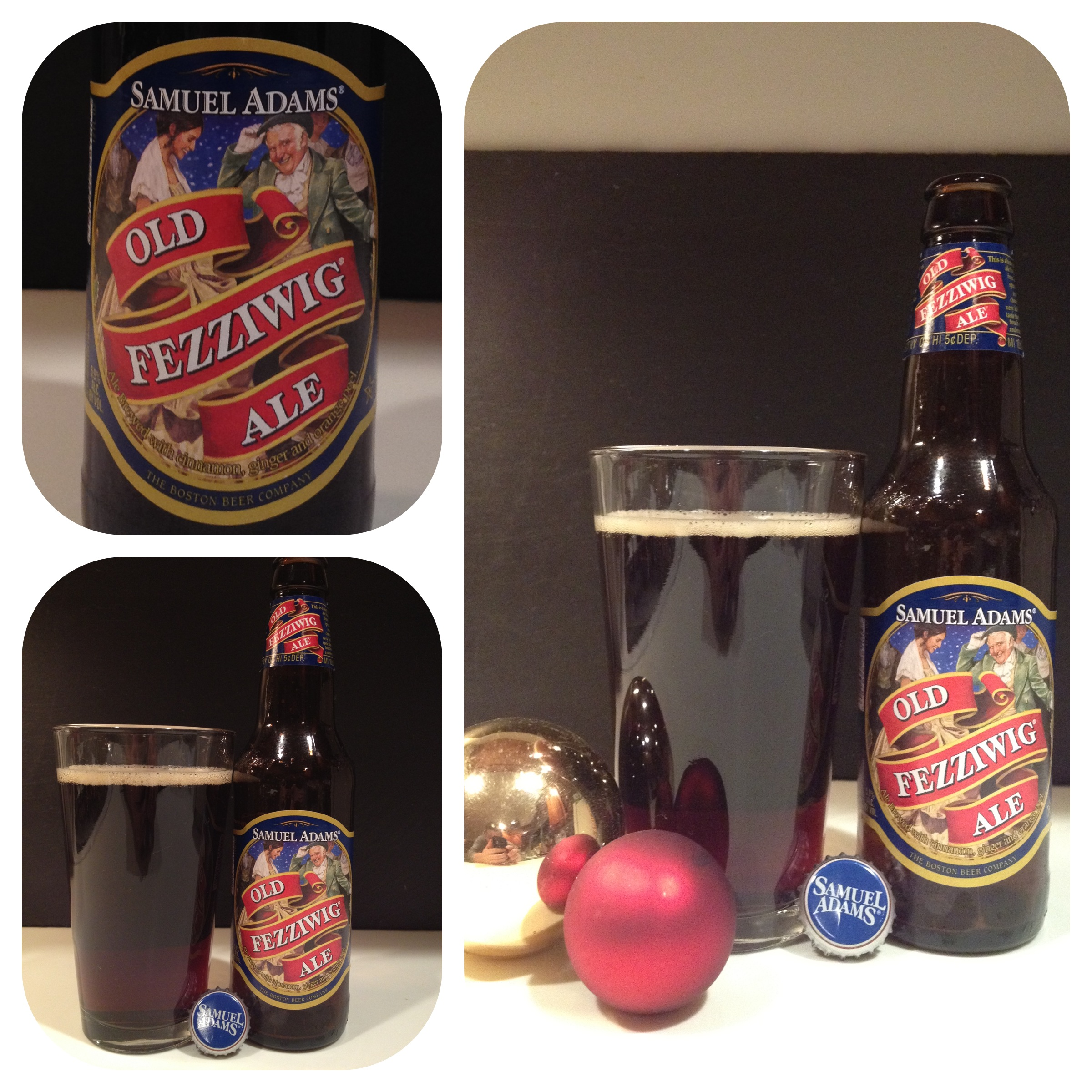 Sam Adams Old Fezziwig - Poured in a glass