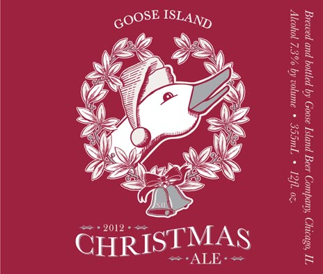 Goose Island Christmas label 2012 2012 Beer Advent Calendar