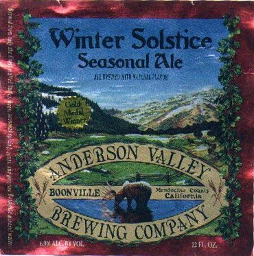 Anderson Valley Winter Solstice Label