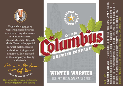 columbus brewing company winter warmer label 2012 Beer Advent Calendar
