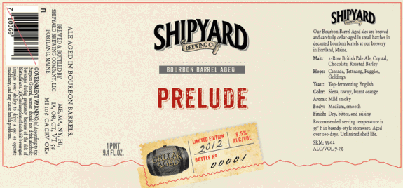 shipyard prelude bourbon barrel 2012 Beer Advent Calendar