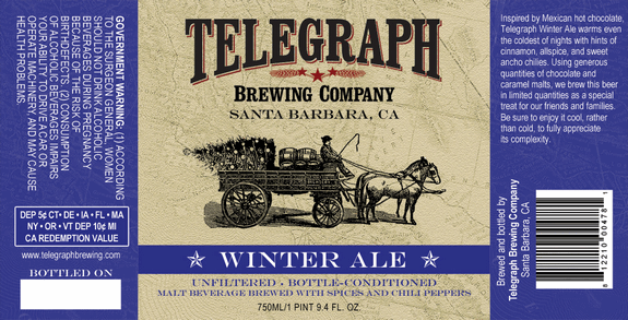 telegraph winter label 2012 Beer Advent Calendar