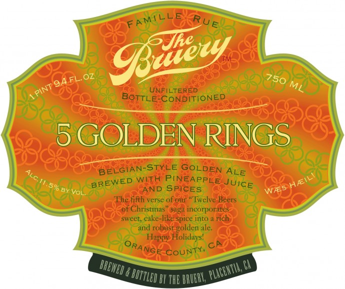 the bruery 5 golden rings 2012 Beer Advent Calendar