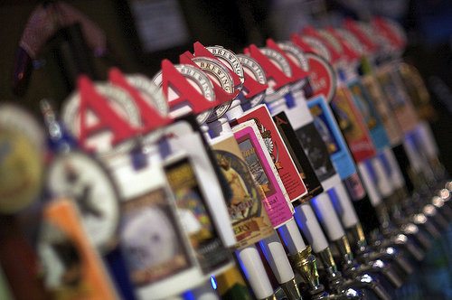 Avery Brewing - Taps in a bar
