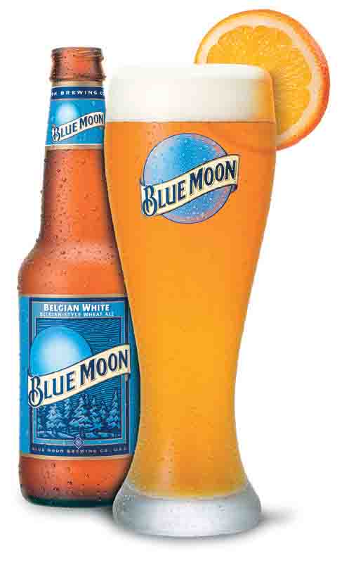 Blue Moon Glass and Bottle