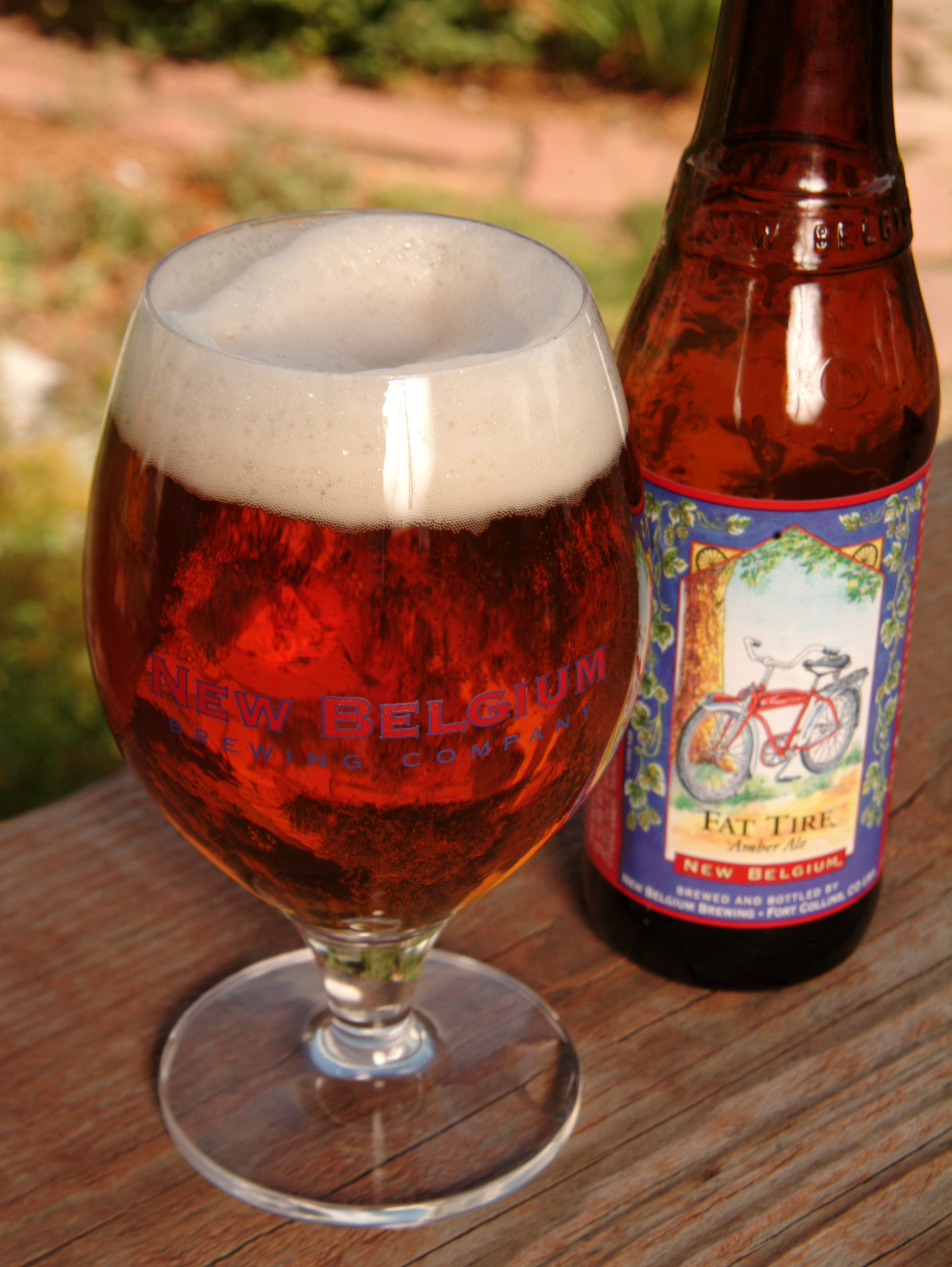 New Belgium - Fat Tire Glass