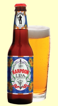 Harpoon IPA Bottle and Glass
