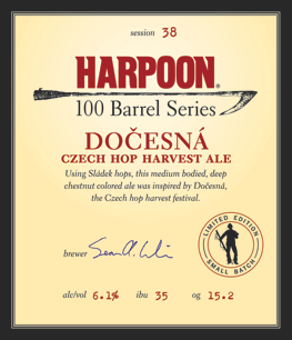 Harpoon 100 Barrel Docesna Czech Hop Harvest