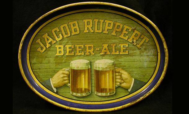 New York History Society - Jacob Ruppert Bar Tray