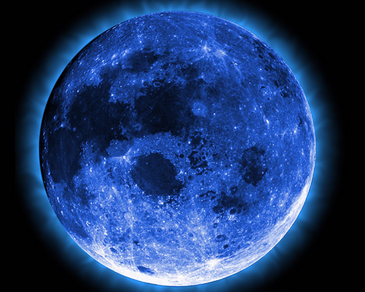 Lunar Blue Moon