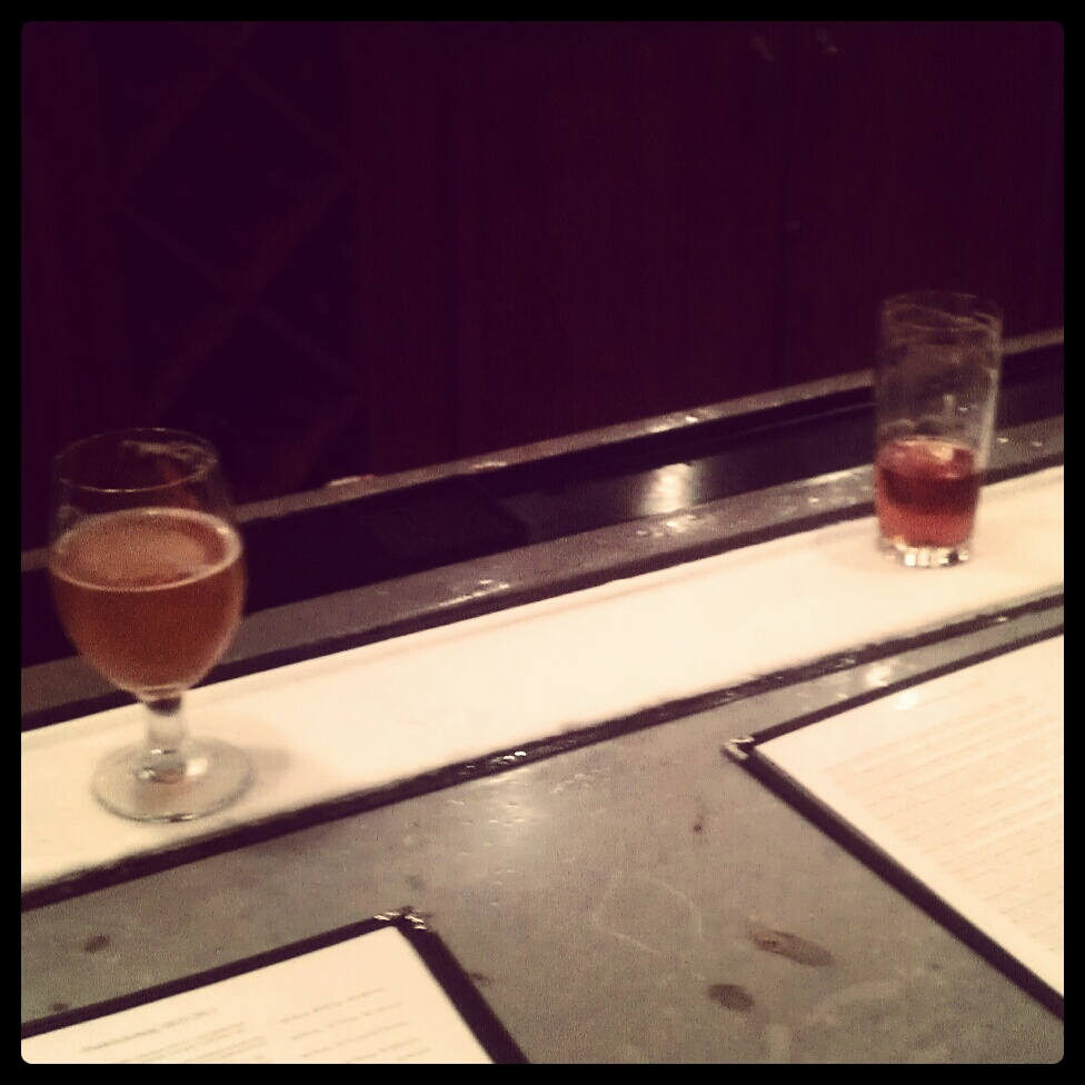 Capital Ale House...both local saisons... Dc Brau middle name danger on the left and All Access saison from Starr Hill on the right