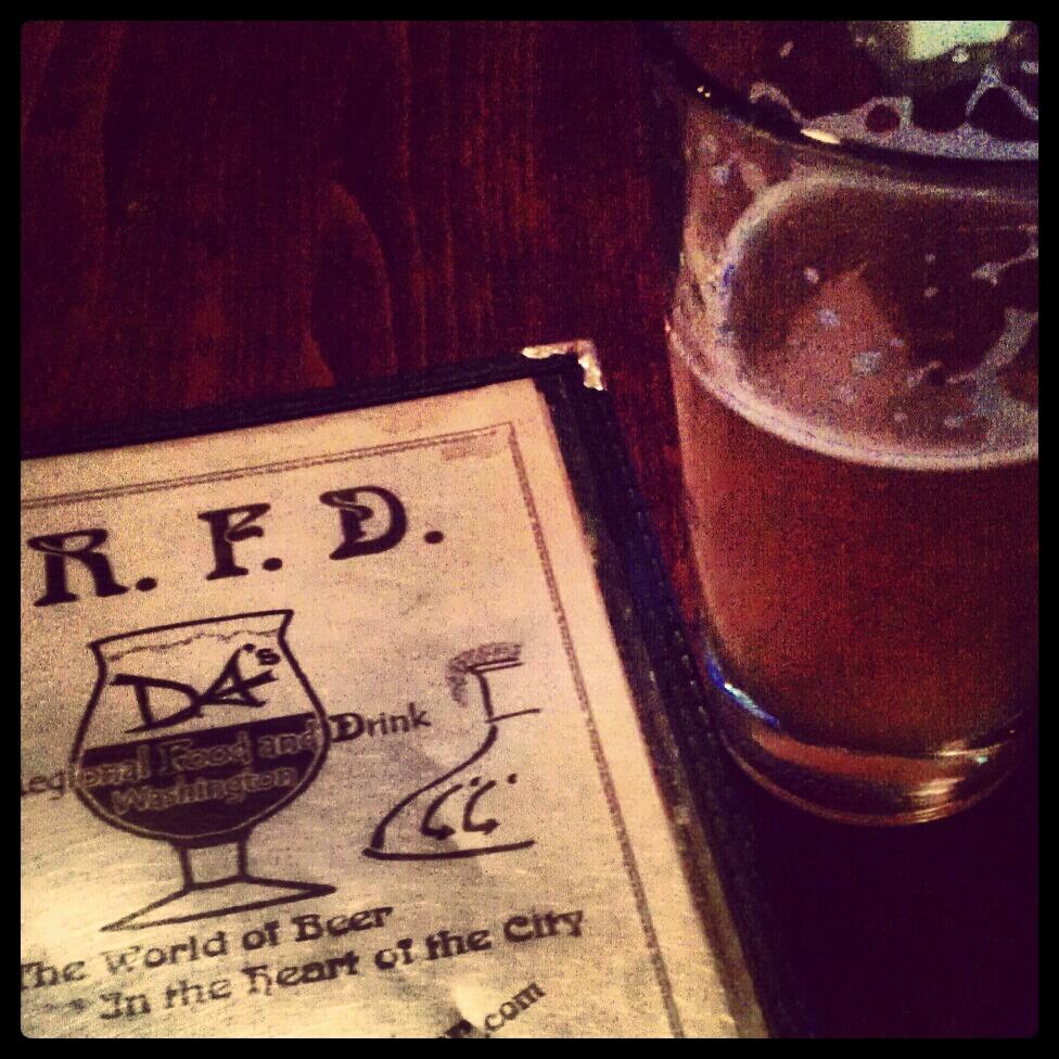 RFD in Norfolk DC drinking a Weihenstephanar Hefeweizen