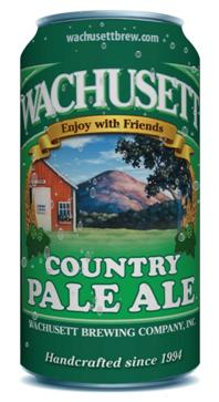 Wachusett Country Pale Ale in a can